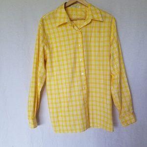 Foxcroft women's wrinkle free plaid shirt size 12